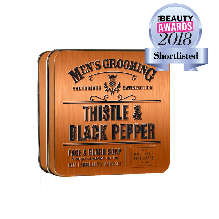 Thistle and Black Pepper Face and Beard Soap (100g)