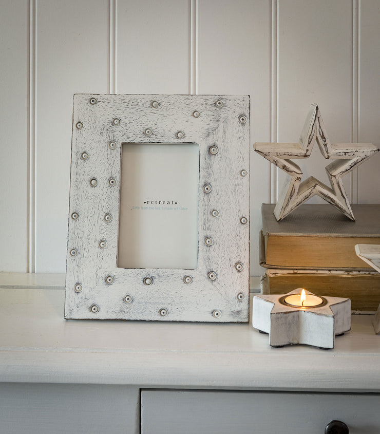 Wooden Dotty Photo Frames