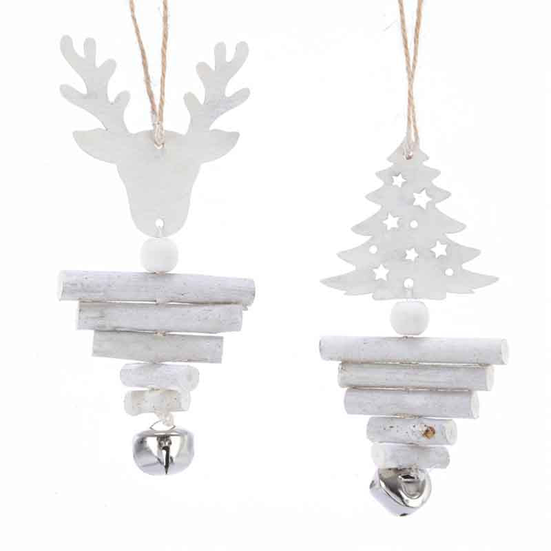 Wooden Bell Christmas Decorations