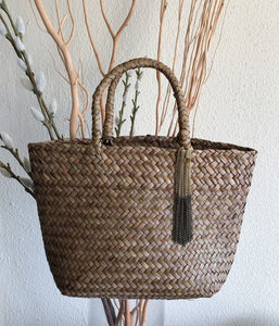 Summery Mini Rattan Bag- Tassel  Charm