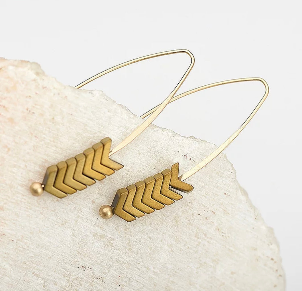 Vintage Triangle Arrow Earrings
