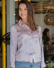 Load image into Gallery viewer, Rosa Latte Silk Blouse