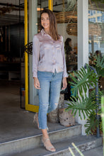 Load image into Gallery viewer, Rose Latte Silk Blouse