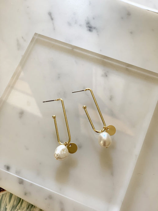 Alice Gold Plated & Pearl Earrings