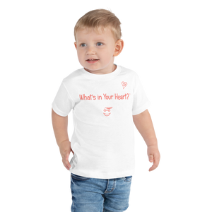 "White ""HeartSteps"" Toddler Short Sleeve Tee"