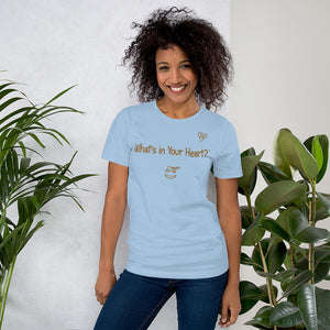 "Light Blue ""Heart Full of Virtues"" Short-Sleeve Unisex T-Shirt"