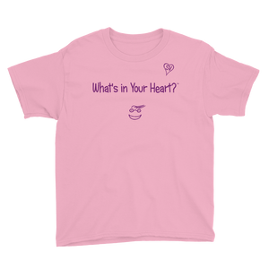 "Pink ""Peace Heart"" Youth Unisex T-Shirt"