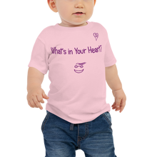 "Load image into Gallery viewer, Pink ""Peace Heart"" Baby Short Sleeve Tee"
