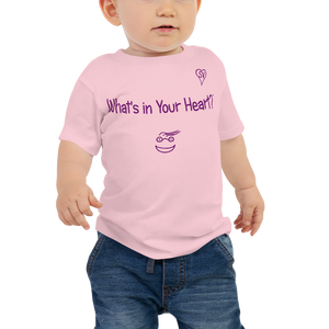 "Pink ""Peace Heart"" Baby Short Sleeve Tee"