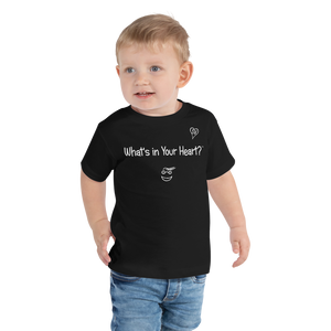 "Black ""Peace Heart"" Toddler Short Sleeve Tee"