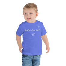 "Load image into Gallery viewer, Heather Blue ""Heart Full of Virtues"" Toddler Short Sleeve Tee"