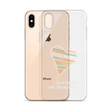 "Load image into Gallery viewer, ""Heart Full of Virtues"" iPhone Case for Black  phones"