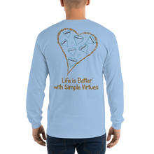 "Load image into Gallery viewer, Light Blue ""Hearts Aloft"" Men's Long-Sleeve T-shirt"