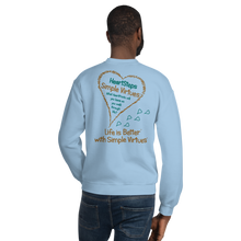 "Load image into Gallery viewer, Light Blue ""HeartSteps"" Unisex Sweatshirt"