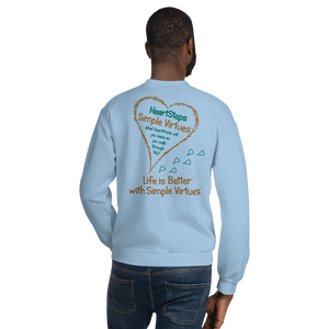 "Light Blue ""HeartSteps"" Unisex Sweatshirt"