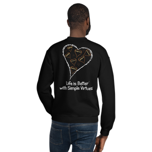 "Black ""Hearts Aloft"" Unisex Sweatshirt"