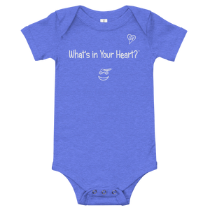 "Heather Blue ""Hearts Aloft"" Baby Onesie"
