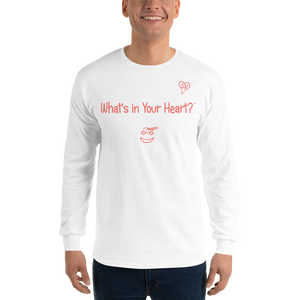 "White ""Hearts Aloft"" Men's Long-Sleeve T-shirt"
