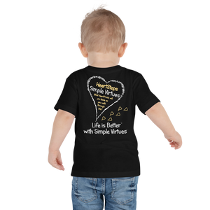 "Black ""HeartSteps"" Toddler Short Sleeve Tee"