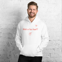 "Load image into Gallery viewer, White ""Heart Full of Virtues"" Unisex Hoodie"