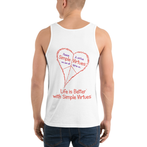 "White Men's ""Peace Heart"" Tank Top"