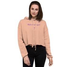 "Load image into Gallery viewer, Peach ""Hearts Aloft"" Crop Hoodie"