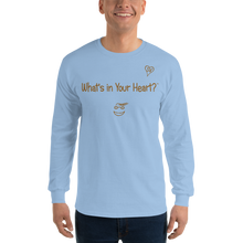 "Load image into Gallery viewer, Light Blue ""Heart Full of Virtues"" Men's Long-Sleeve T-shirt"