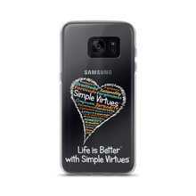 "Load image into Gallery viewer, ""Heart Full of Virtues"" Samsung Case for  Black phones"