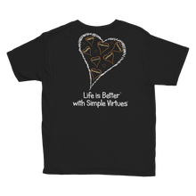 "Load image into Gallery viewer, Black ""Hearts Aloft"" Youth Unisex T-Shirt"