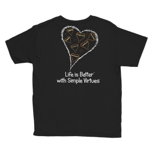 "Black ""Hearts Aloft"" Youth Unisex T-Shirt"