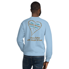 "Load image into Gallery viewer, Light Blue ""Peace Heart"" Unisex Sweatshirt"