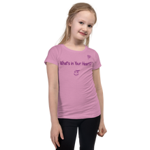 "Load image into Gallery viewer, Lilac ""HeartSteps"" Girl's Cut Slim Fit T-Shirt"