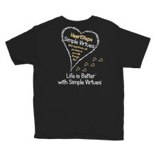 "Load image into Gallery viewer, Black ""HeartSteps"" Youth Unisex T-Shirt"