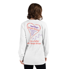 "Load image into Gallery viewer, White ""HeartSteps"" Long-Sleeve T-shirt"