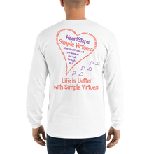 "Load image into Gallery viewer, White ""HeartSteps"" Men's Long-Sleeve T-shirt"