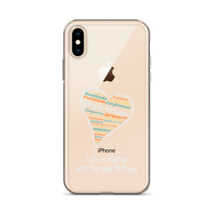 """Heart Full of Virtues"" iPhone Case for Black  phones"