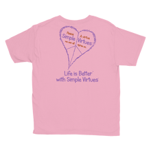 "Load image into Gallery viewer, Pink ""Peace Heart"" Youth Unisex T-Shirt"