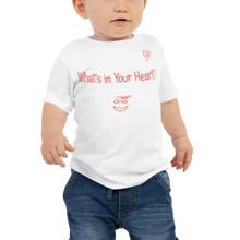"Load image into Gallery viewer, White ""Peace Heart"" Baby Short Sleeve Tee"