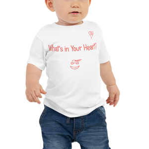 "White ""Peace Heart"" Baby Short Sleeve Tee"