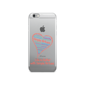"""Heart Full of Virtues"" iPhone Case for White and Gold phones"