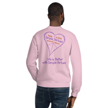 "Load image into Gallery viewer, Pink ""Peace Heart"" Unisex Sweatshirt"