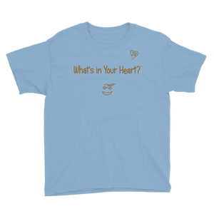 "Light Blue ""Peace Heart"" Youth Unisex T-Shirt"