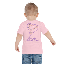 "Load image into Gallery viewer, Pink ""Hearts Aloft"" Toddler Short Sleeve Tee"