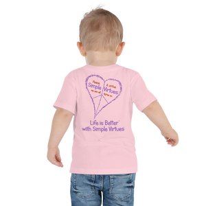 "Pink ""Peace Heart"" Toddler Short Sleeve Tee"