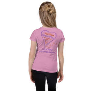 "Lilac ""HeartSteps"" Girl's Cut Slim Fit T-Shirt"