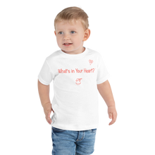 "Load image into Gallery viewer, White ""Heart Full of Virtues"" Toddler Short Sleeve Tee"