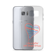"Load image into Gallery viewer, ""Heart Full of Virtues"" Samsung Case for Silver phones"