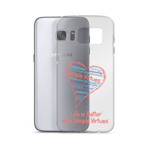 """Heart Full of Virtues"" Samsung Case for Silver phones"