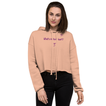 "Load image into Gallery viewer, Peach ""Heart Full of Virtues"" Crop Hoodie"