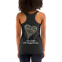 "Load image into Gallery viewer, Vintage Black Women's ""Heart Full of Virtues"" Racerback Tank"